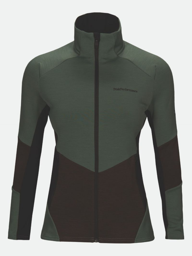 PEAK PERFORMANCE VERTICAL MID ZIP JACKET WOMEN